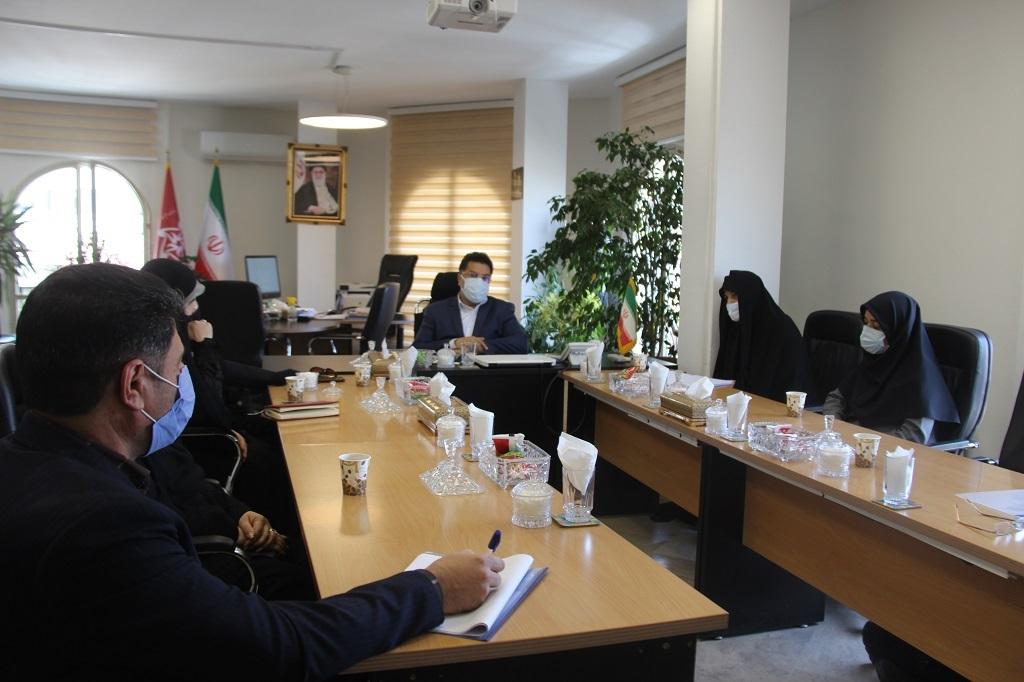 دیدار مشاور وزیر صمت در امور بانوان و خانواده با معاون وزیرو مدیر عامل سازمان حمایت